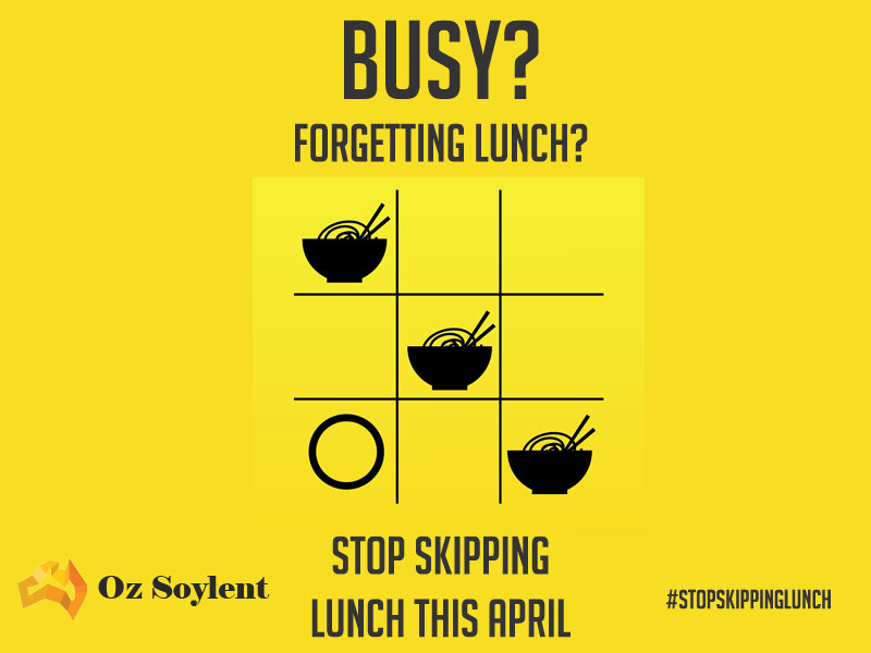 stop skipping lunch